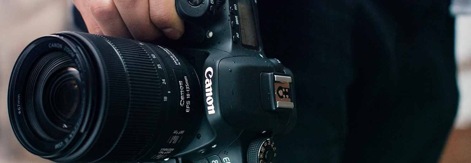 Close of up of Canon lens